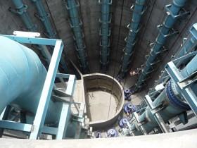 """Abwasserpumpwerk La Caldera mit 42""""-Leitungen (DN1050)"""