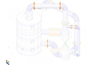 Modellierung von Gaskanälen im CAESAR II