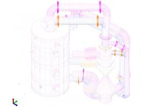 Visualisierung der Verschiebungen an den Gaskanälen im Betriebszustand
