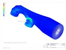FEM-Rohrabschnitt mit Deformations- und Spannungsauswertung im ROHR2fesu