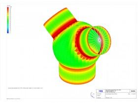 FEM für Kugelformstück im HD-HT-Bereich mit ROHR2fesu