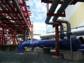 HKW Chemnitz Kühlwasserleitungen